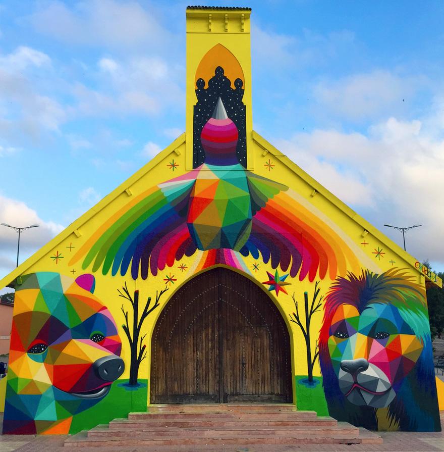 Eglise Abandonn 233 E Et Transform 233 E Par Graffiti Voyage Actus