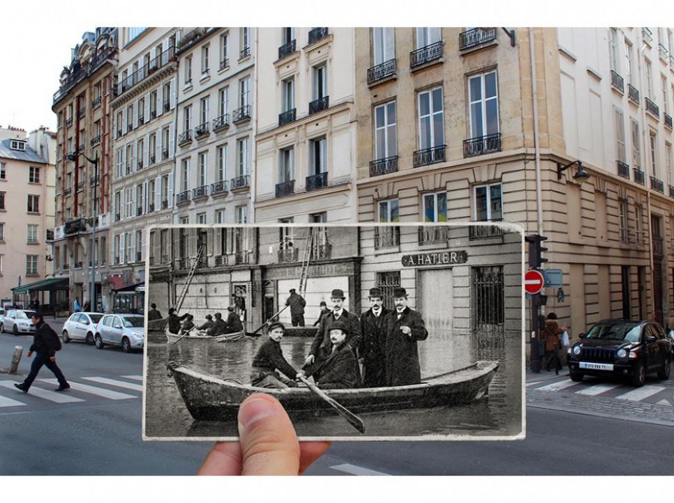 Il Superpose Des Photos De Paris D Hier Et D Aujourd Hui