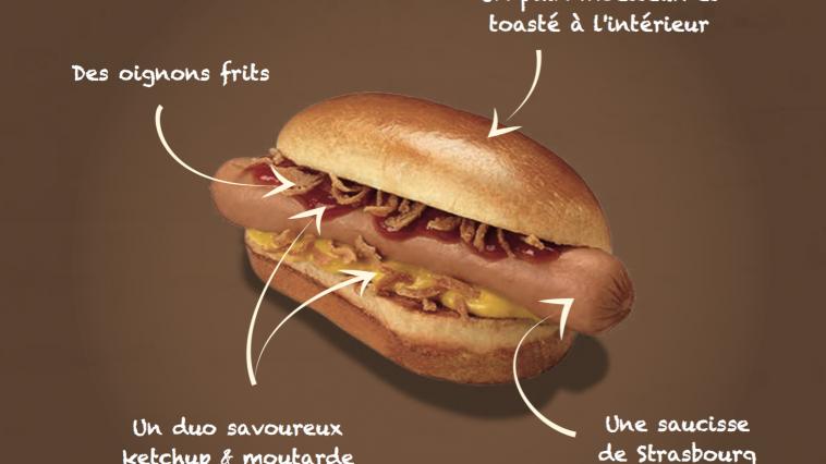 d couvrez le premier hot dog mcdonald 39 s bient t france les ingr dients sont gourmands. Black Bedroom Furniture Sets. Home Design Ideas