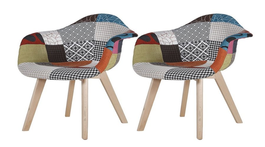 chaise scandinave patchwork DSW
