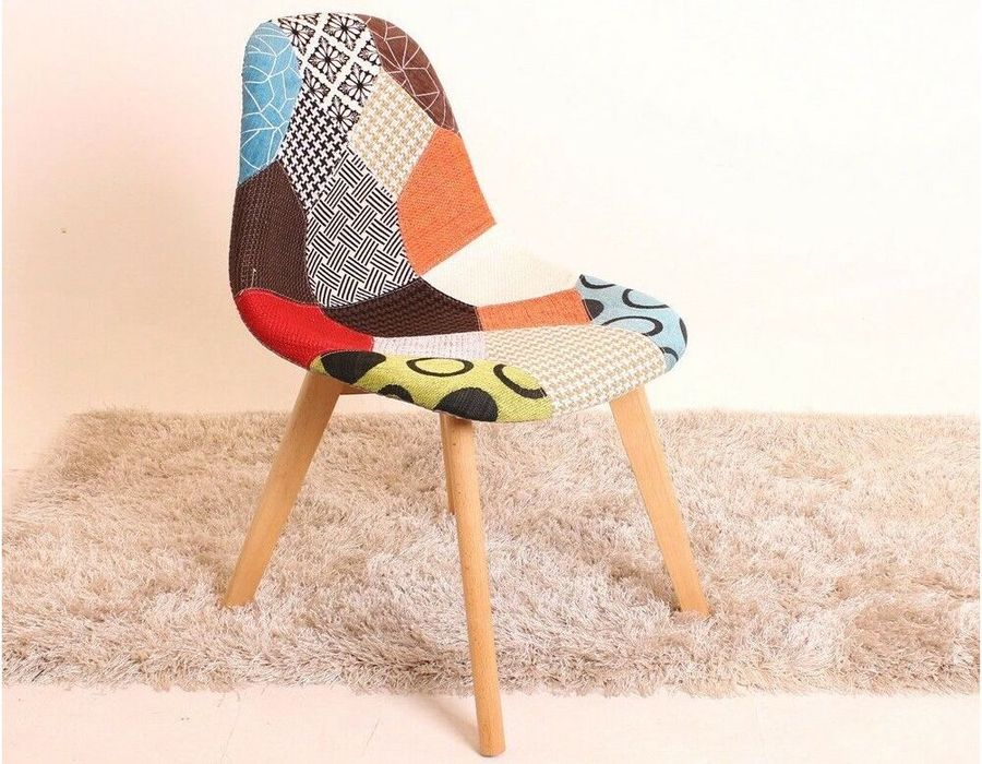 chaise scandinave patchwork tulipe